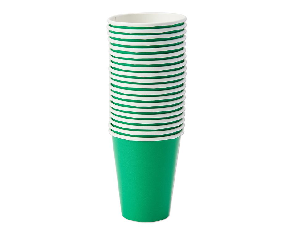 festive green paper cups 20 ct