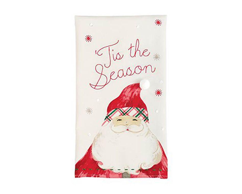 Mud Pie Holiday Santa Sequin Towel