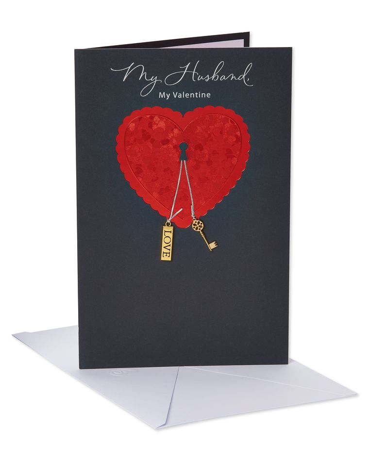 My Valentine Valentine's Day Card for Husband with Foil