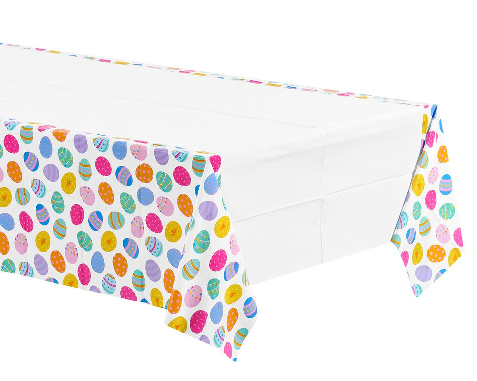 Easter Eggs Plastic Table Cover, 54