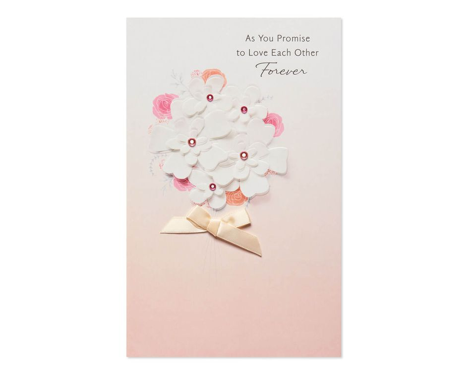 Floral Forever Wedding Card