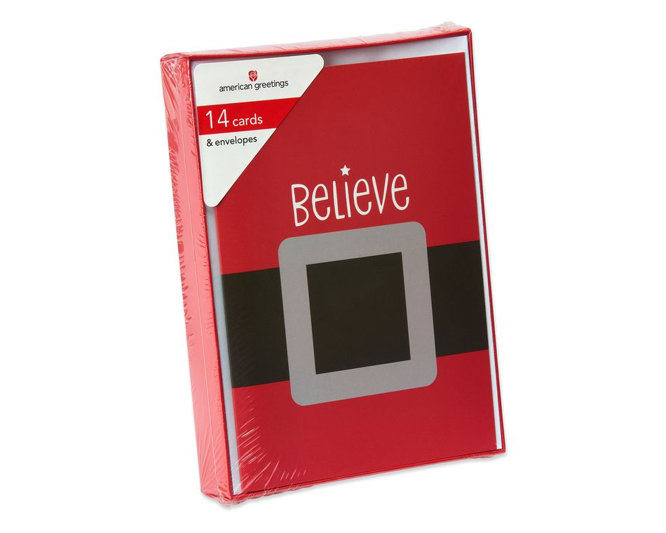 Believe Christmas Boxed Cards, 14 Count - American Greetings