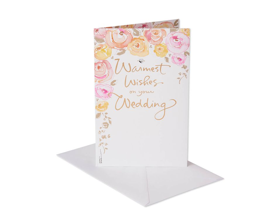 Wedding Card Wishes.Kathy Davis Warmest Wishes Wedding Card American Greetings