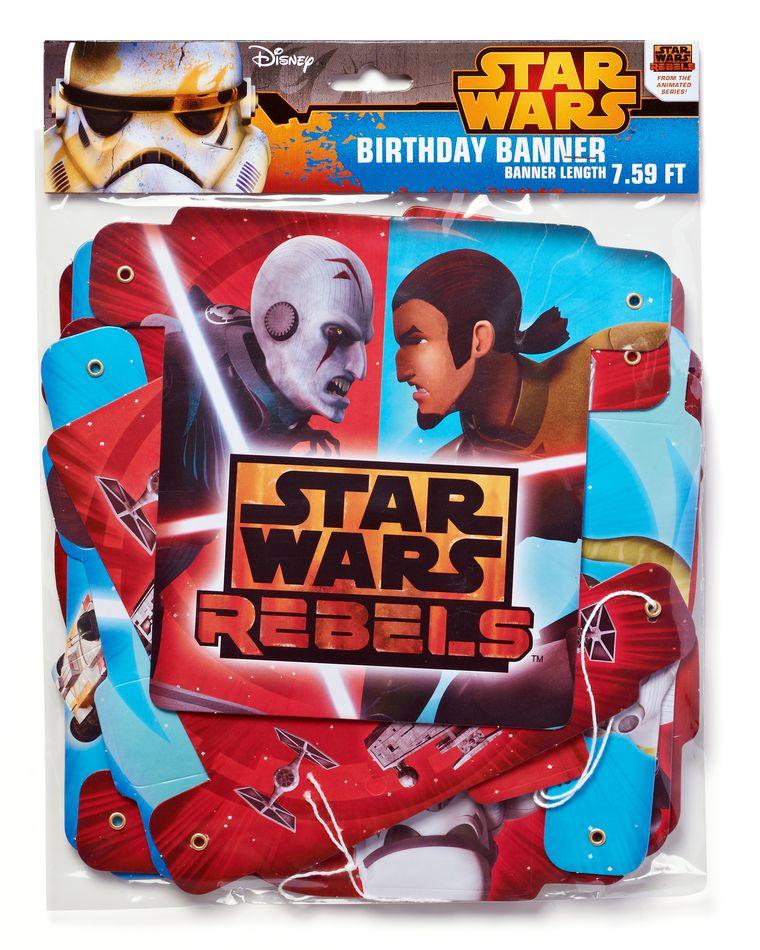 Star Wars Rebels Hinge Birthday Party Banner