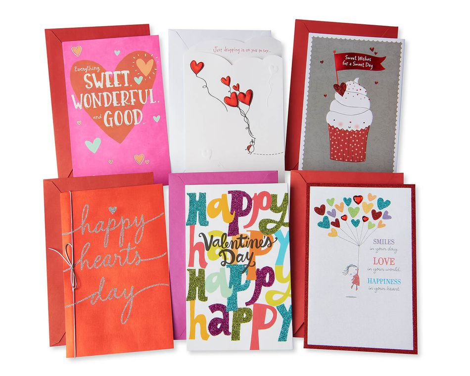 Valentine's Day Card Bundle, 6-Count