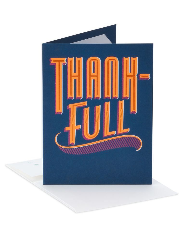 Good Food Thanksgiving Card with Foil