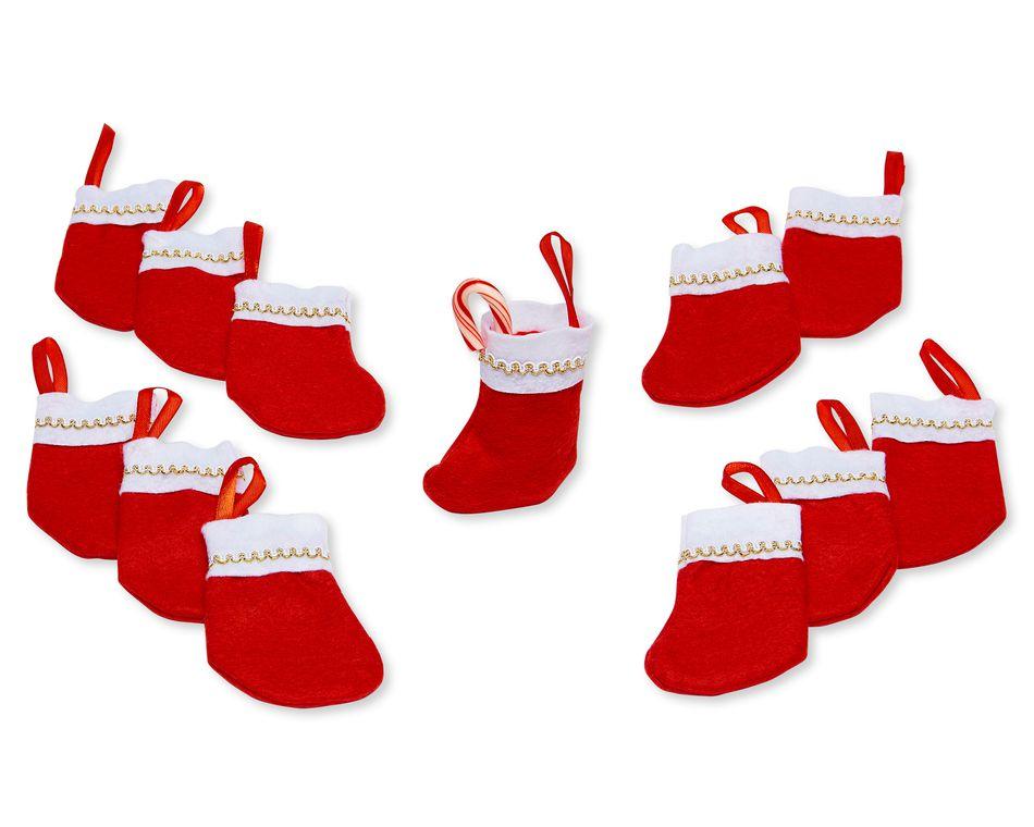 Mini Christmas Stockings, 12-Count