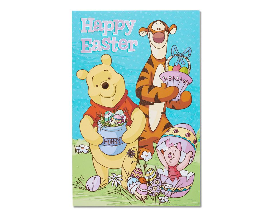 Winnie The Pooh Easter Card 6 Count American Greetings