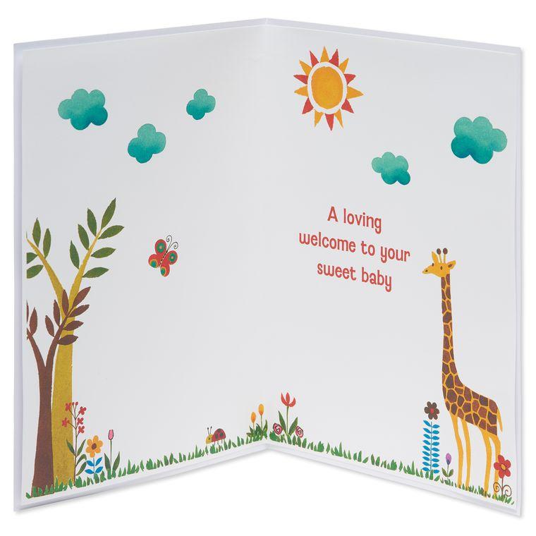 Jungle Animal New Baby Greeting Card