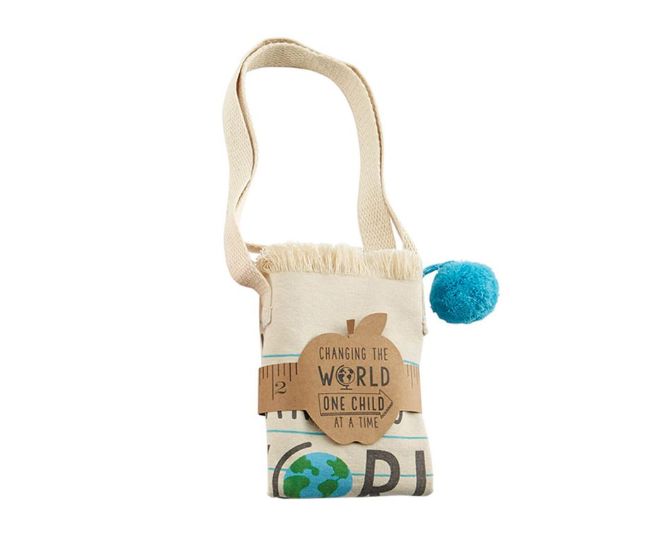 Mud Pie Changing the World Canvas Tote Bag