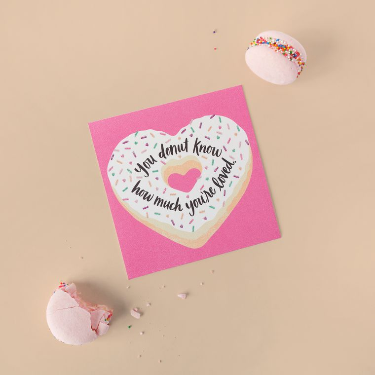 Donut Valentine's Day Card