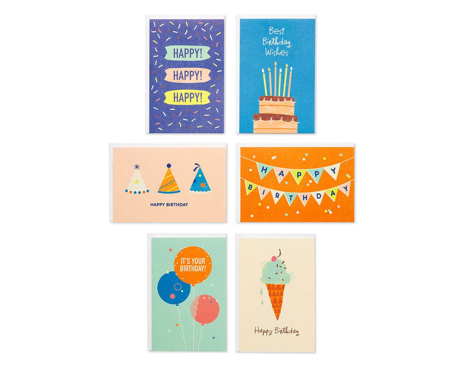 Birthday Greeting Card Bundle With White Envelopes 48 Count