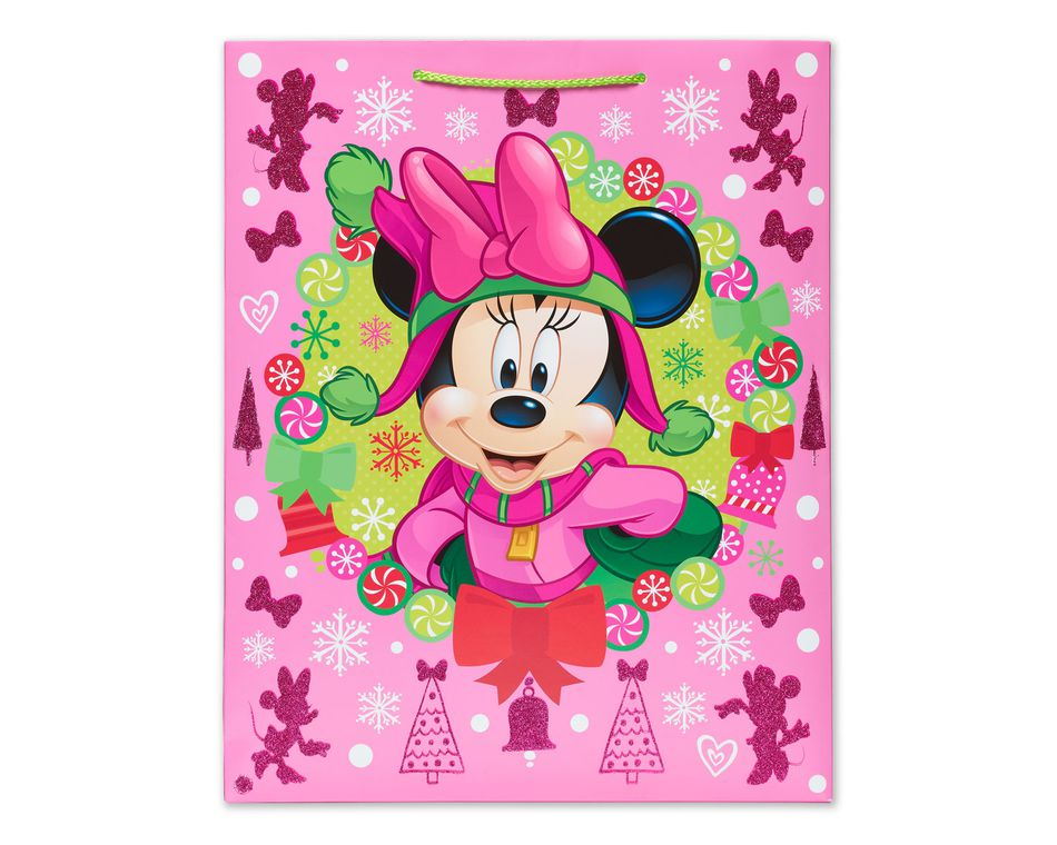 Minnie Mouse Winter Fun Large Christmas Gift Bag