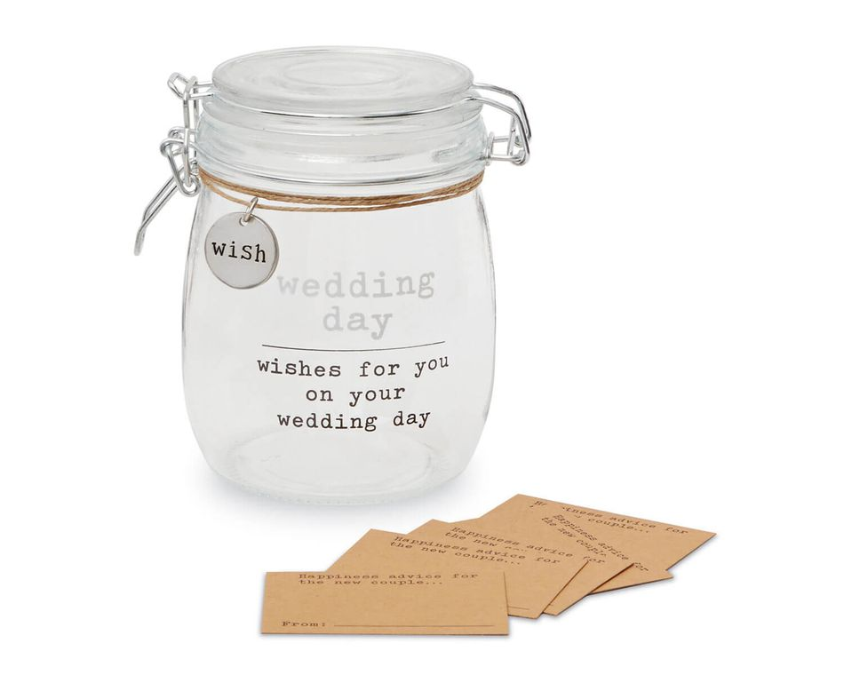 Mud Pie Wedding Wish Jar Set
