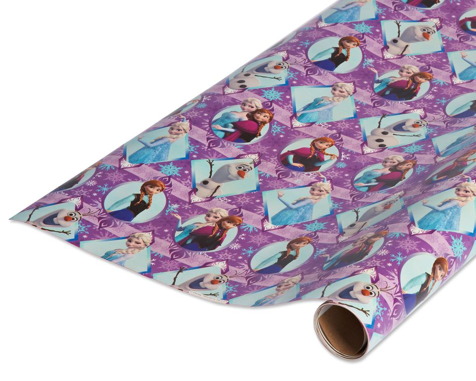 Christmas Frozen Wrapping Paper 1 Roll