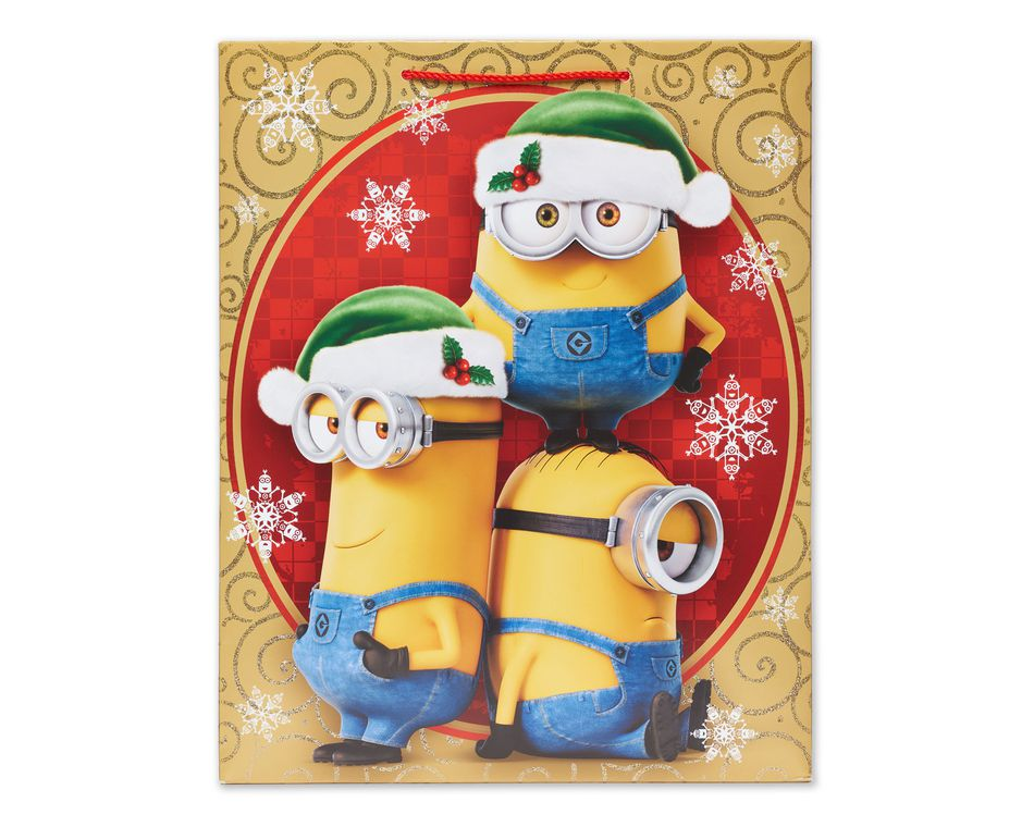 Minions large christmas gift bag american greetings minions large christmas gift bag m4hsunfo