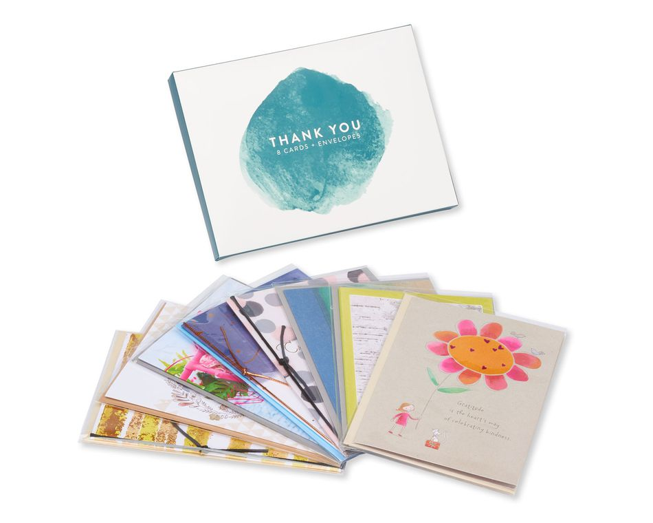 Thank You Greeting Card Collection, 8-Count