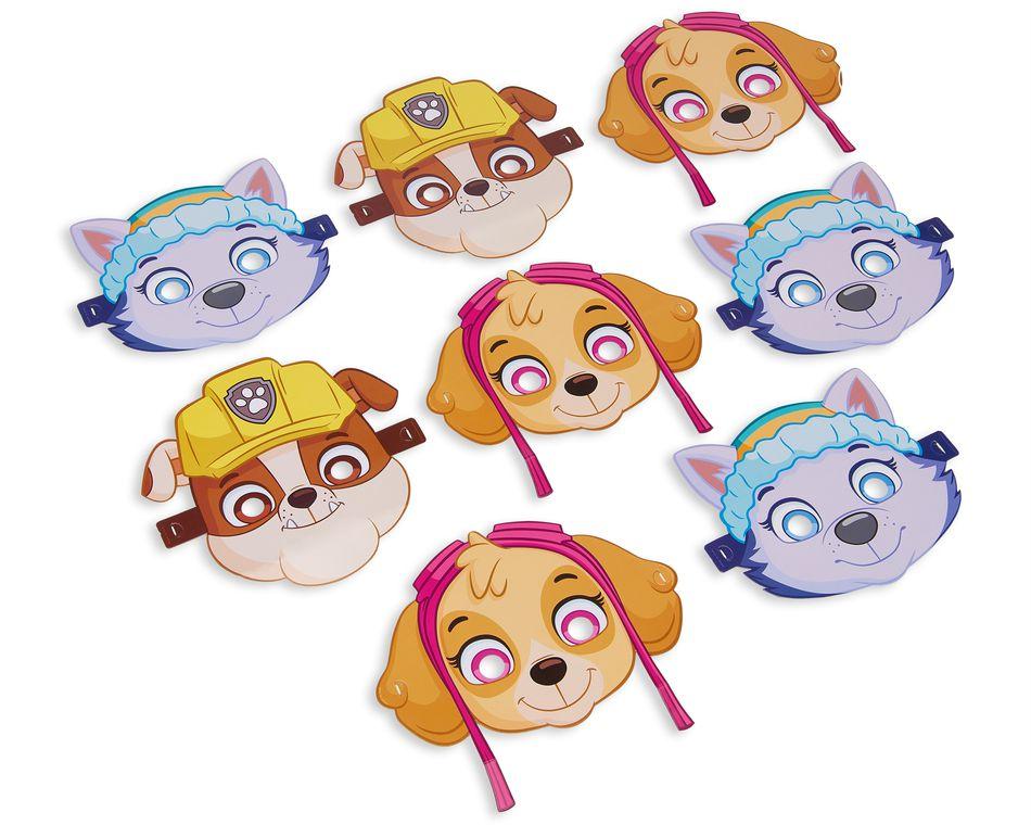 paw patrol pink masks 8 ct