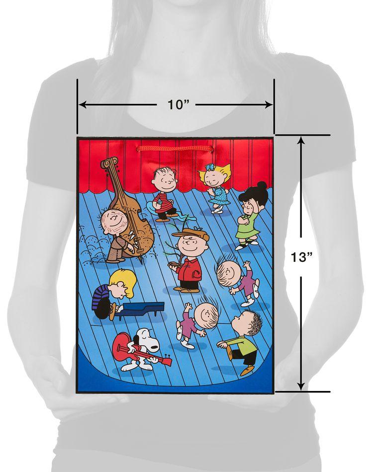 Medium Peanuts Christmas Gift Bag