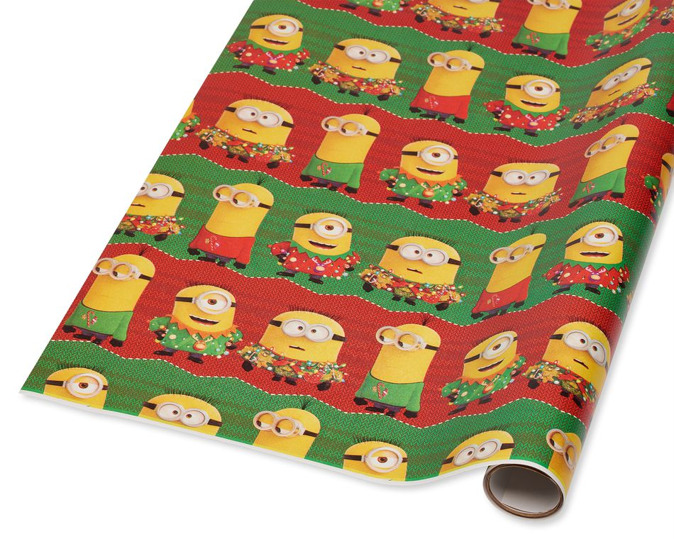 Minions Christmas Wrapping Paper, 40 Total Sq. Ft.