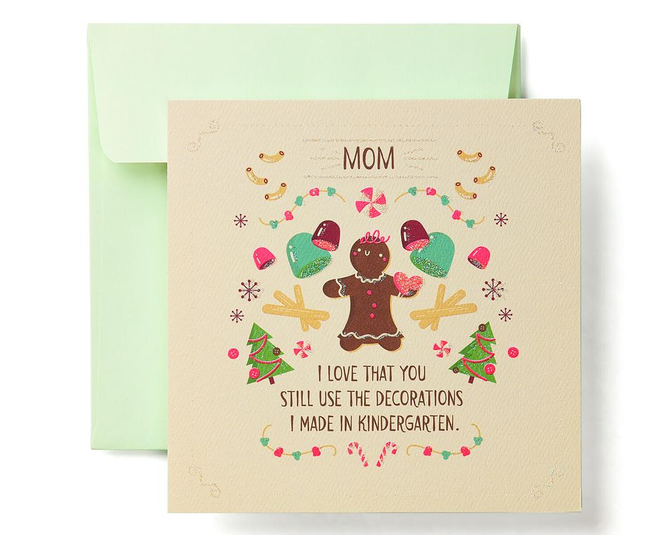 Gingerbread Greeting Card for Mom - Christmas, Happy Holidays ...
