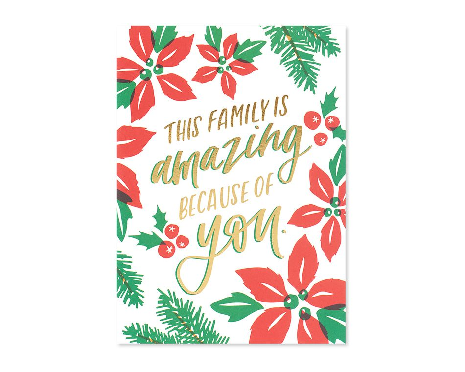 amazing family christmas card