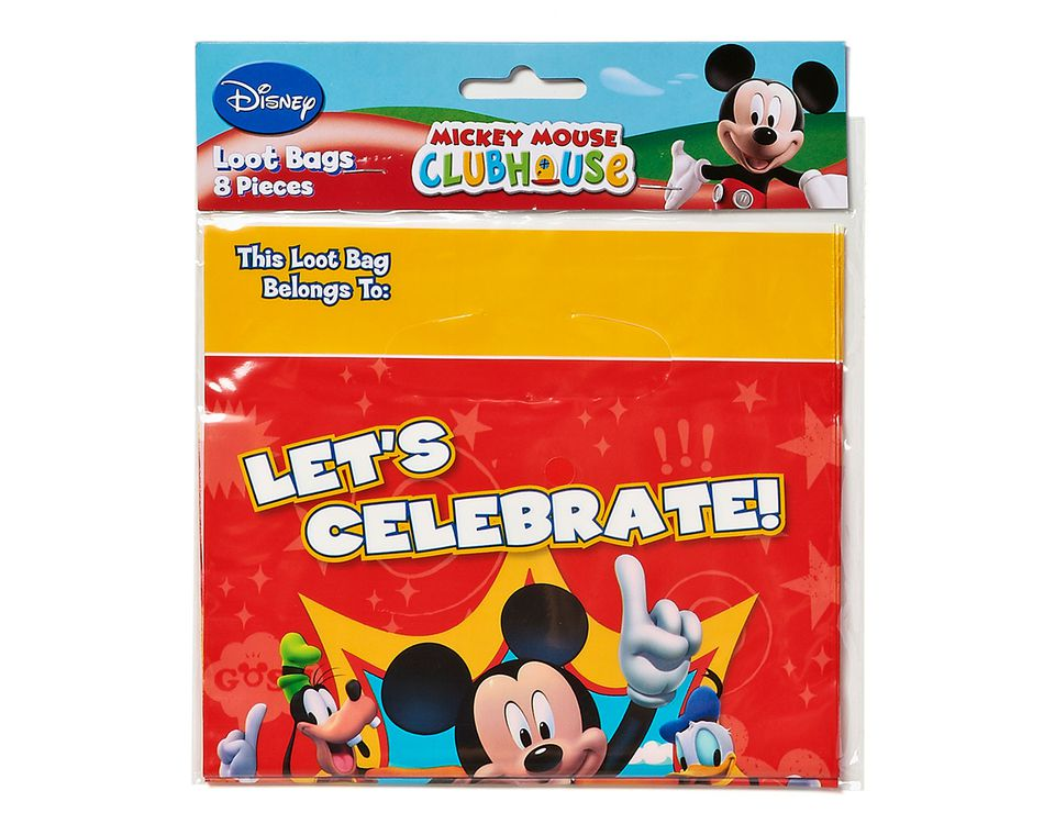 mickey mouse clubhouse treat bags 8 ct