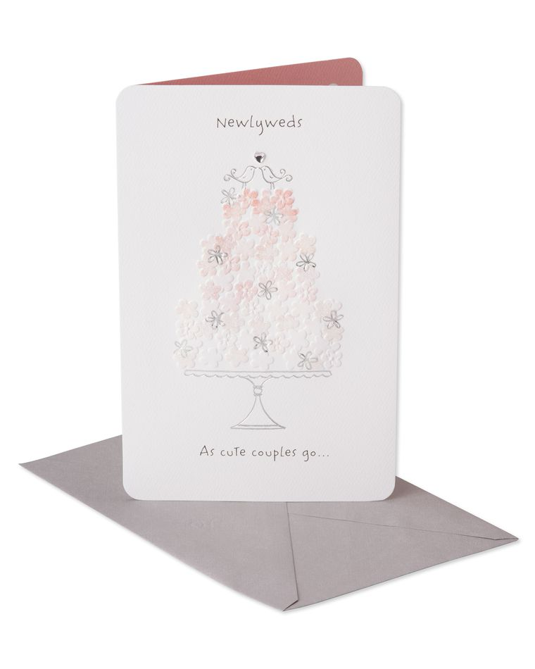 Pink Cake Wedding Card