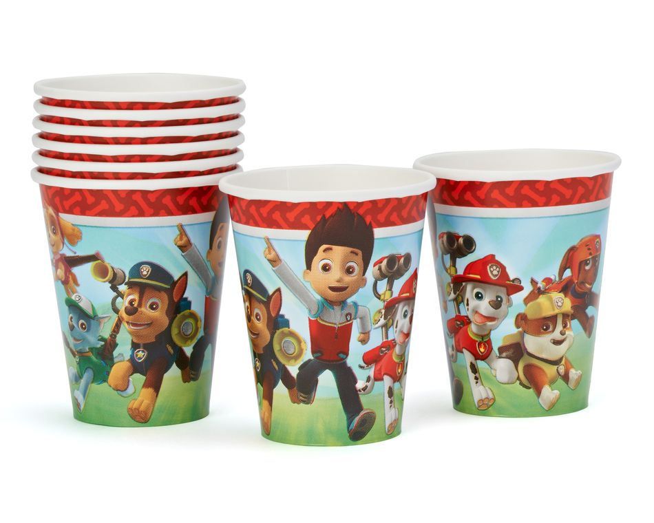 paw patrol 9 oz. paper cups 8 ct