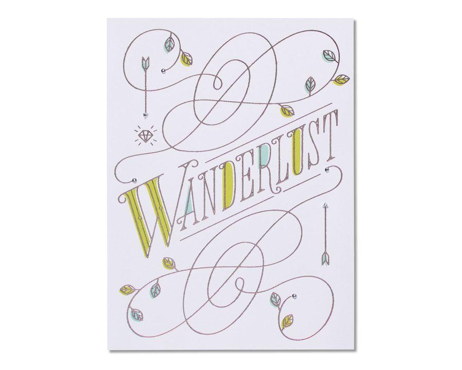 Wanderlust Birthday Card