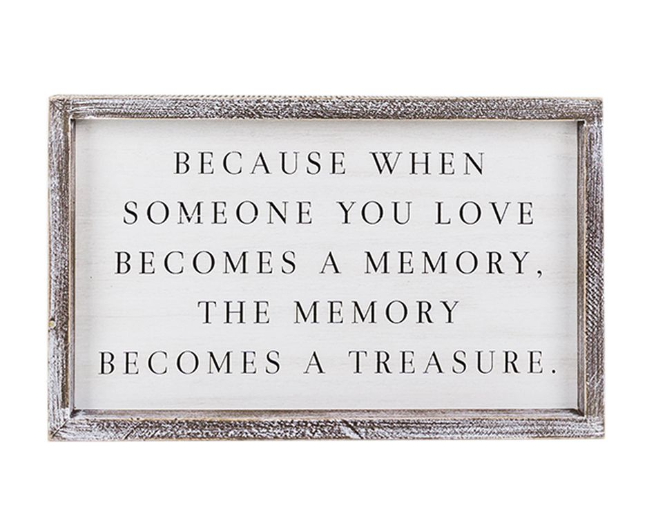 Memory Becomes a Treasure' Wall Sign