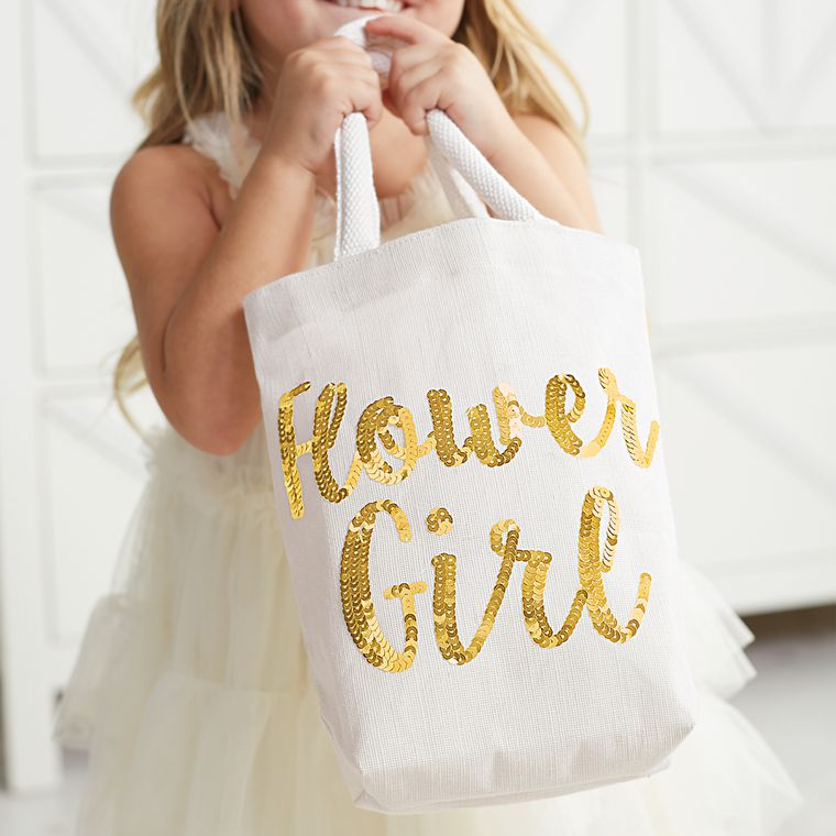 Mud Pie Flower Girl Dazzle Tote