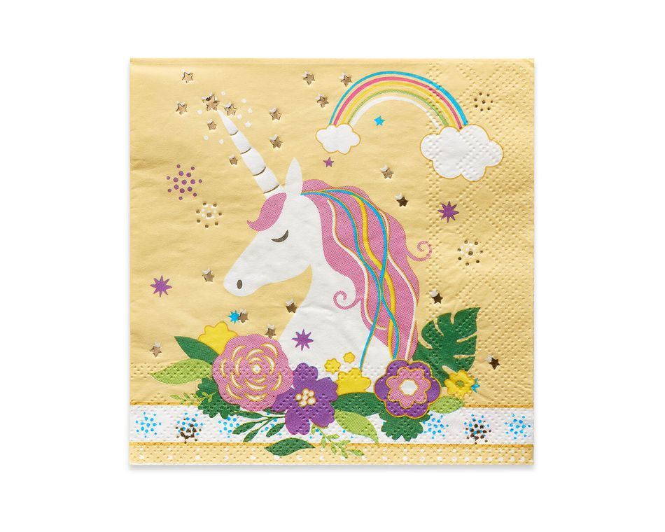 Party Partners Unicorn Napkins, 20-Count