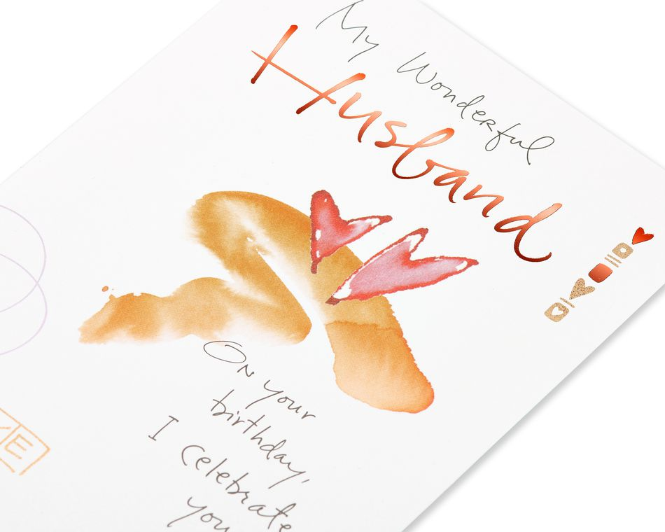 Kathy Davis Hearts Birthday Card for Husband