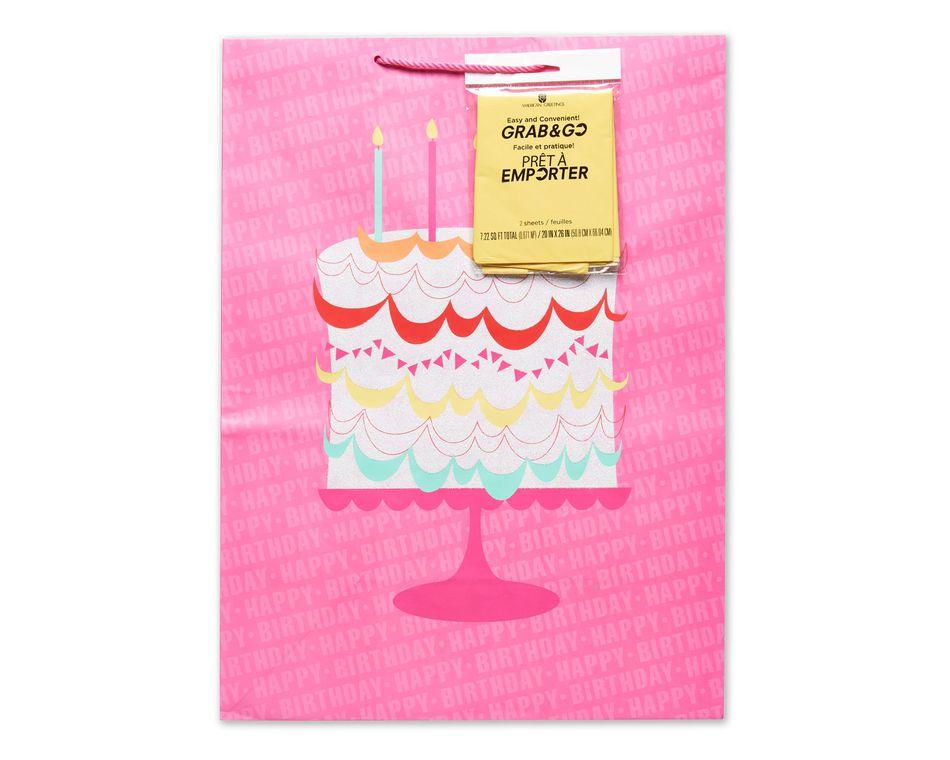 Jumbo Birthday Cake Grab Go Gift Bag