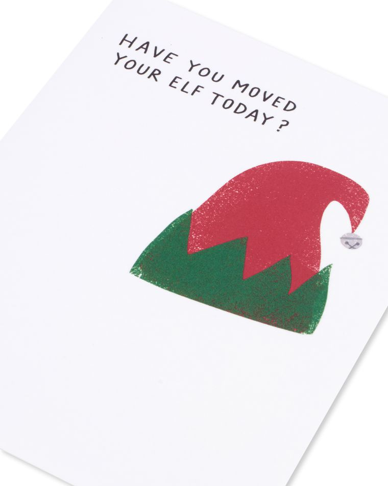 move your elf christmas card