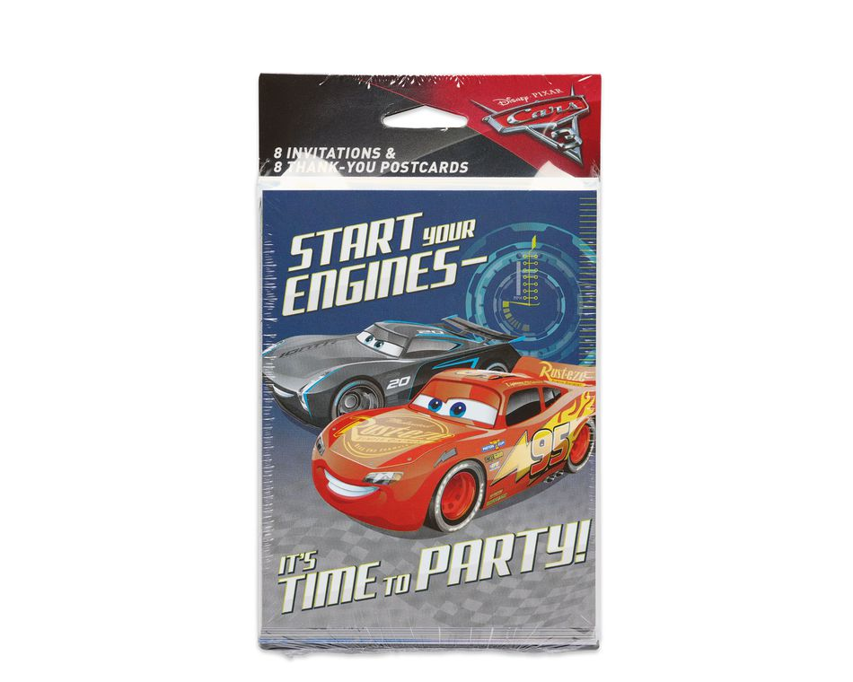 Cars 3 invite and thank you combo pack 8 count american greetings cars 3 8 count invite and thank you combo pack m4hsunfo