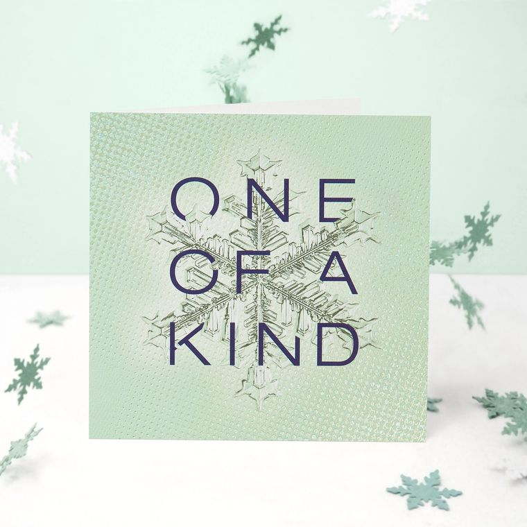 One of a Kind Christmas Greeting Card