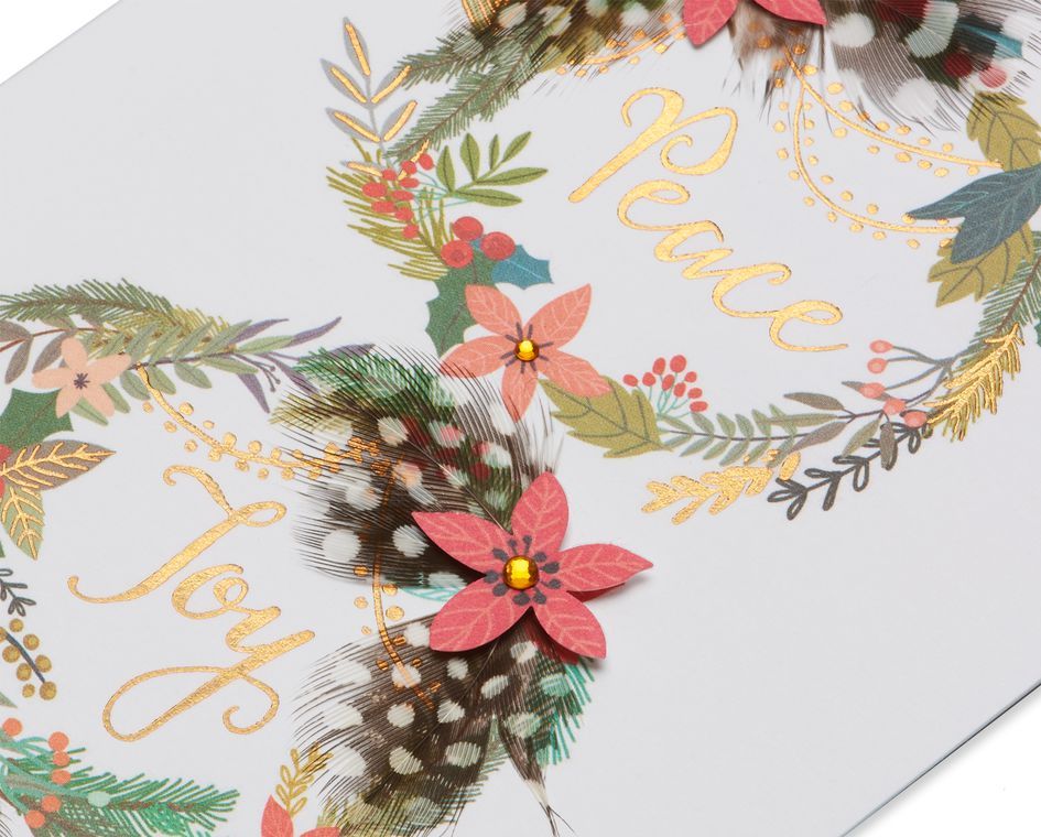 Boho Wreath Christmas Greeting Card