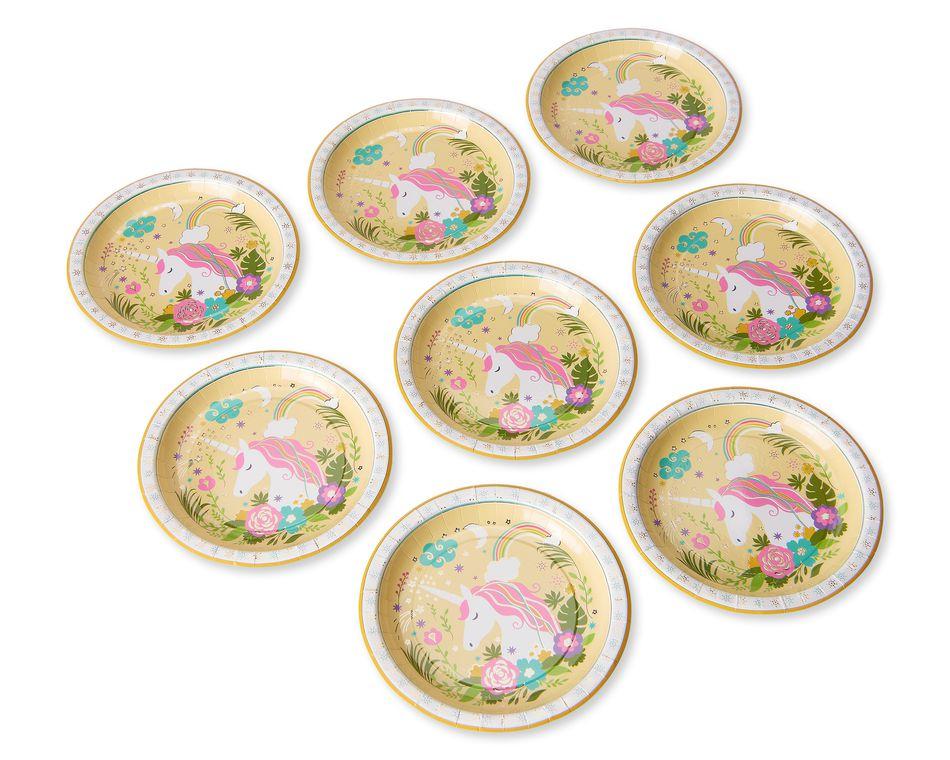 Party Partners Unicorn Dessert Plates, 8-Count