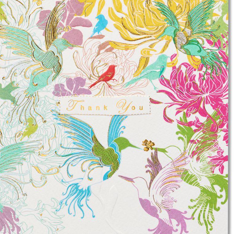 Hummingbirds Blank Greeting Card