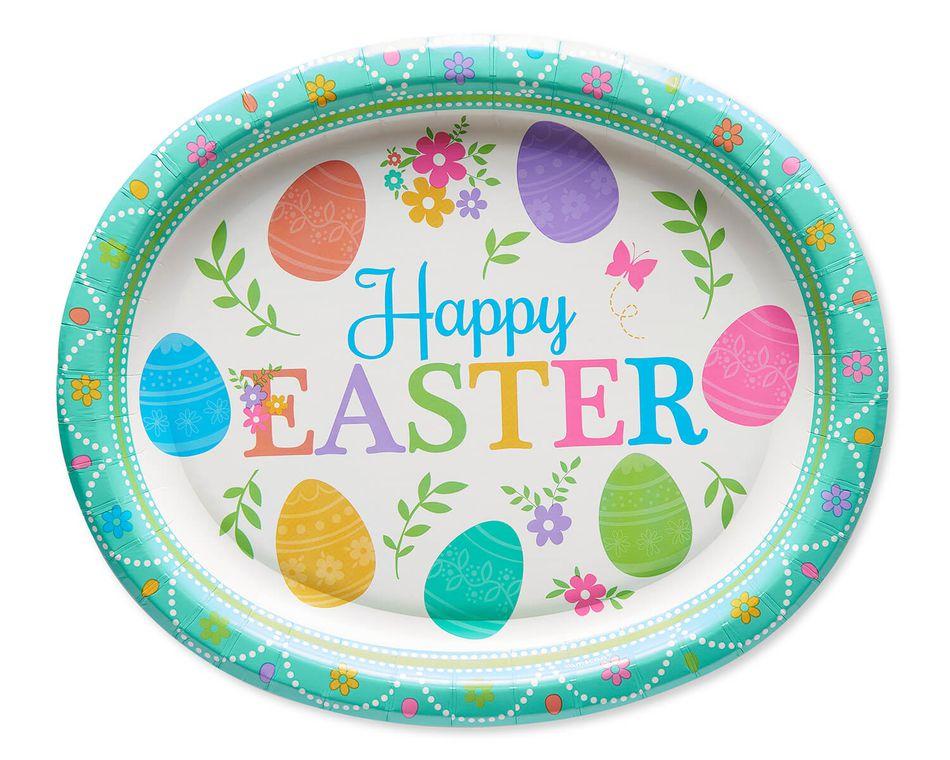 Lovely Easter Paper Dinner Plates, 8-Count