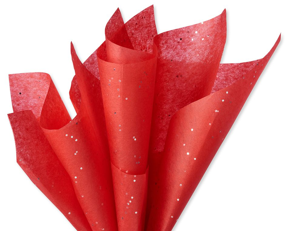 Red Sparkle Tissue Paper, 6 ct