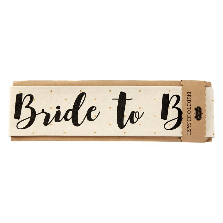 Mud Pie Bride To Be Canvas Wedding Sashes