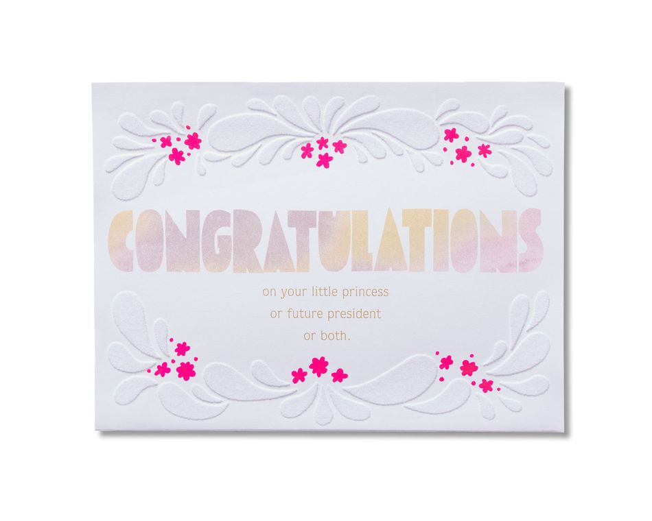 Amazing New Baby Girl Congratulations Card American Greetings