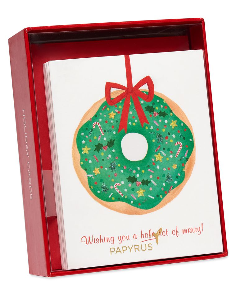 Donut Wreath Holiday Boxed Cards, 20-Count