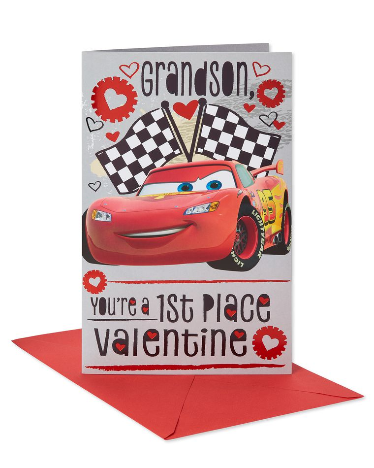 Cars Valentine's Day Card for Grandson