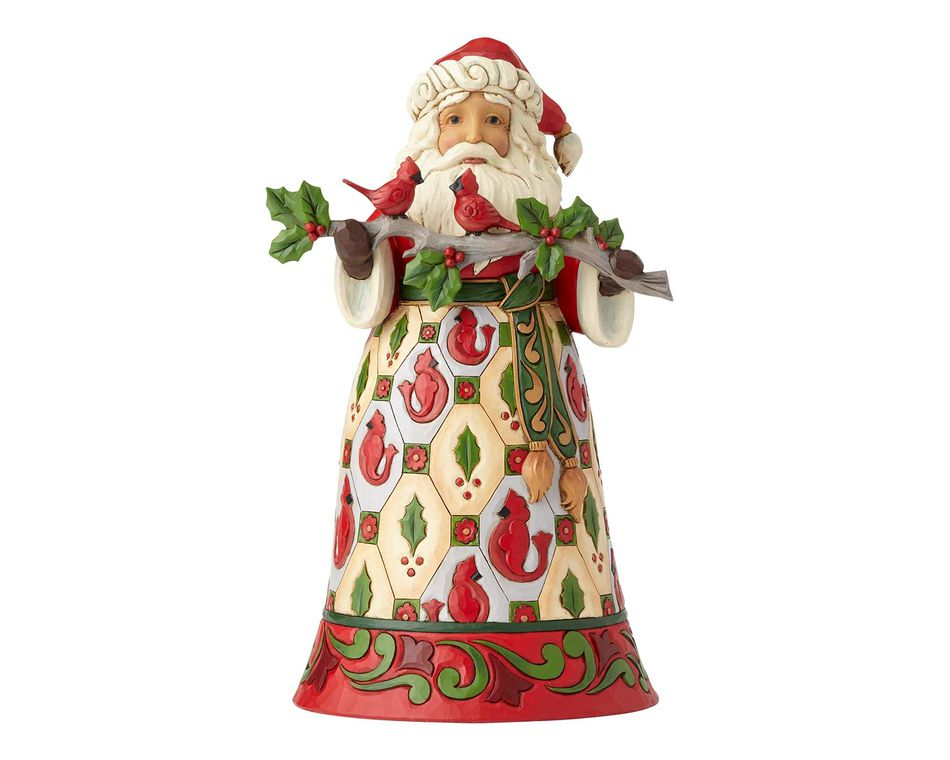 Jim Shore Cardinal Santa Claus Figurine