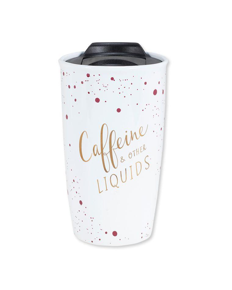 caffeine & other liquids travel mug