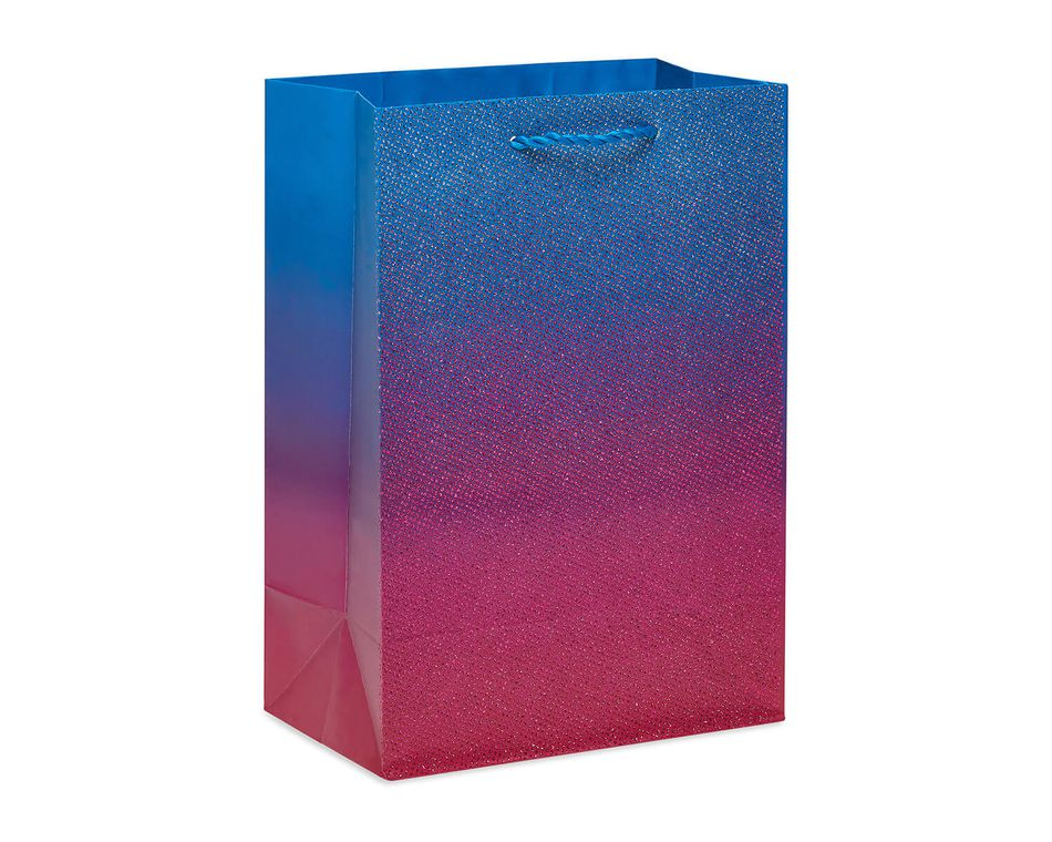 Medium Glitter Ombre Gift Bag